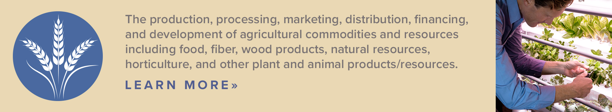 Agriculture, Food & Natural Resources
