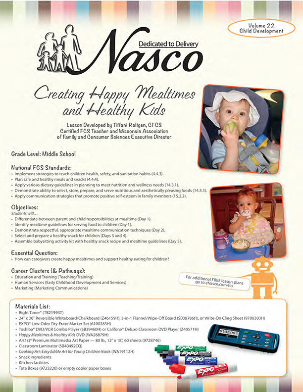 Free Activities Family and Consumer Science | Nasco