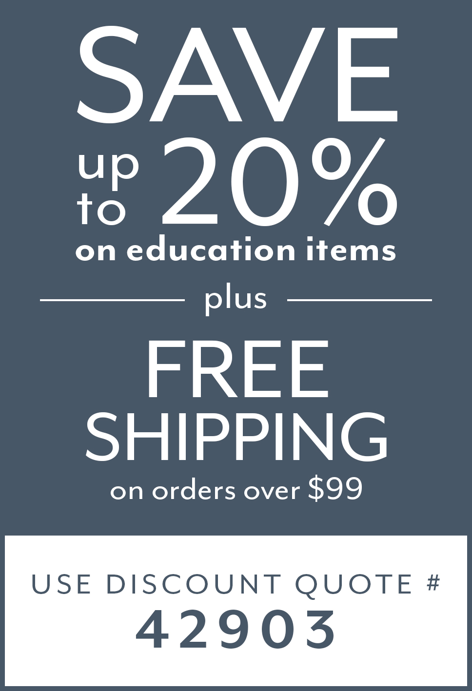 We Are So Much More - Save Up To 20% on Education Items Plus Free Shipping on Orders over $99